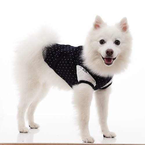 Shirt collar vintage lace shape little short-sleeved pet clothes (widened version)