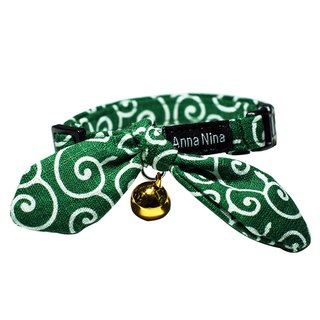 [AnnaNina] pet cat collar Green Tang Cao Kaili towel S~M