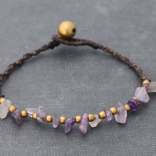 Bead Weaving Bracelets Amethyst Simple Dainty Stone