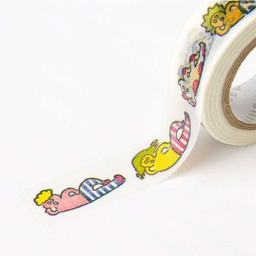 Japanese illustrator paper tape - leisurely lying