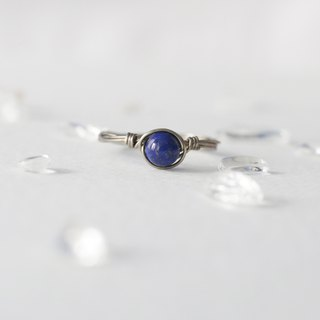 4mm lapis lazuli copper ring color ring can be male models neutral