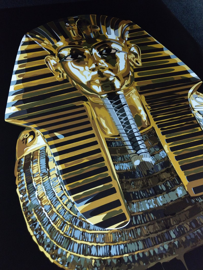 NOELC painting replica of the Pharaoh Queen large poster limit edition edition