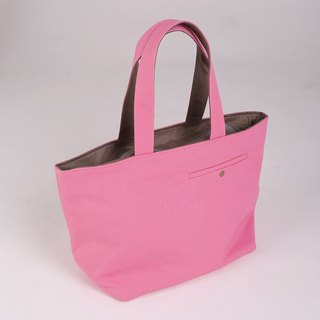 Tailor pockets Tote - rose pink