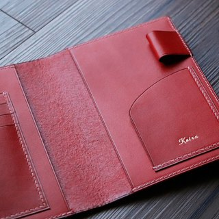 Handmade leather passport holder for travel addicts