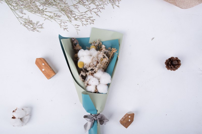 Soft and pure bouquet / cotton bouquet / confession bouquet / wedding small things / dry flowers / dry bouquet / bouquet