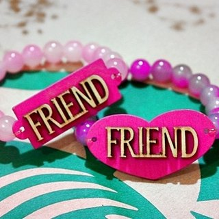 Natural stone x alloy bracelet _ eternal friendship (a pair of x2) - one 2 free transport - #闺密#