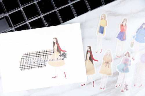 Red shoes girl stickers