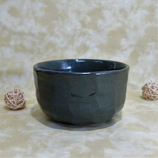 Deep sea cucumber green hand cut bowl, rice bowl, tea bowl - capacity about 460ml