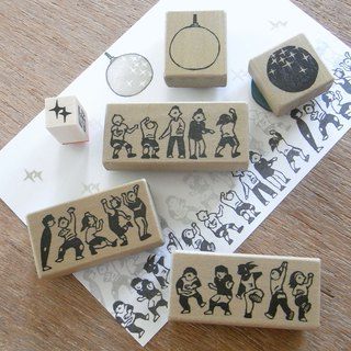 Handmade rubber stamp set  Dance hall