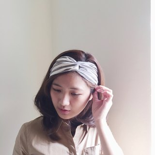 Double brown loose wide version / handmade hair band