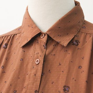 Retro Japanese Brick Orange Cute Flower Thin Vintage Shirt Vintage Blouse