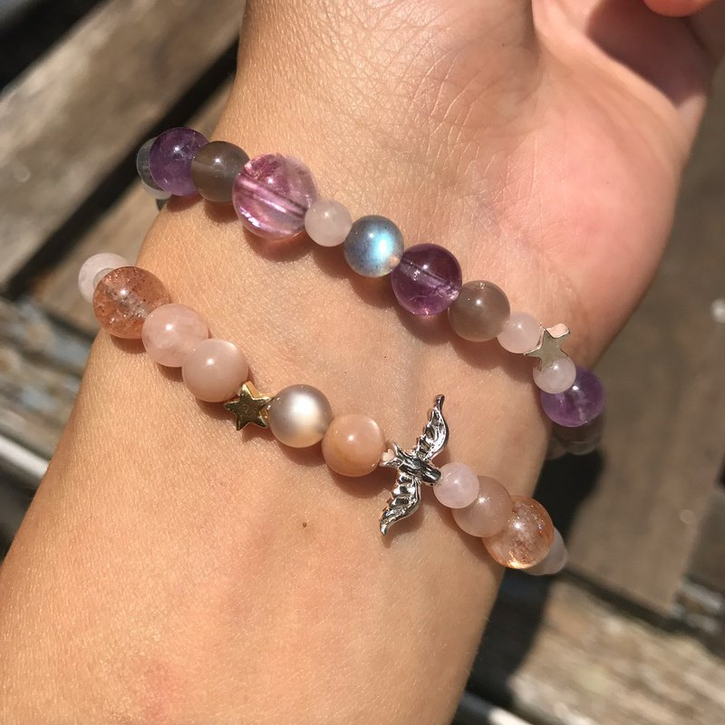 【Lost And Find】Natural  stone 2 rounds bracelet
