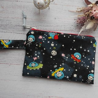Cosmic space raging cosmetic bag.