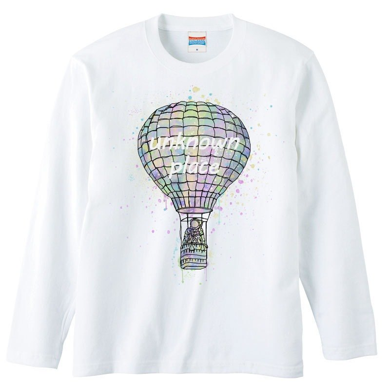 [Long Sleeve T Shirt] Space balloon 2