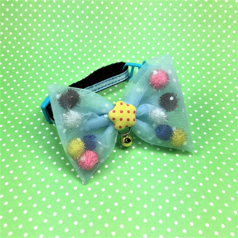 BAO cat net yarn blue bow collar pet collar * concerned about the store take freight coupons
