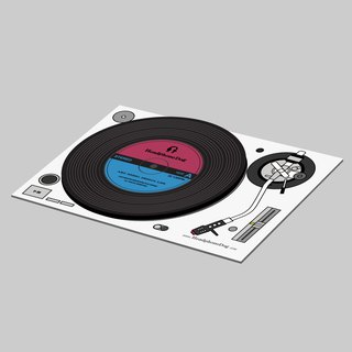 Record Coaster / Lid Postcard