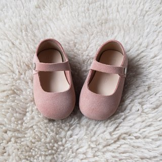 Dusty Rose Toddler Girl Shoes, Mauve Baby Girl Shoes, Leather Baby Shoes