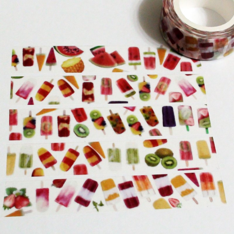 Masking Tape Fruit Popsicle