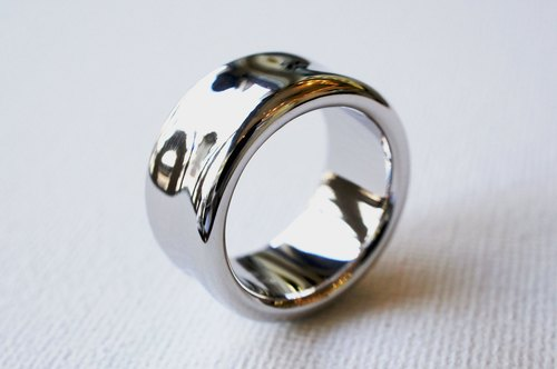 Wide smooth ring (Silver type)