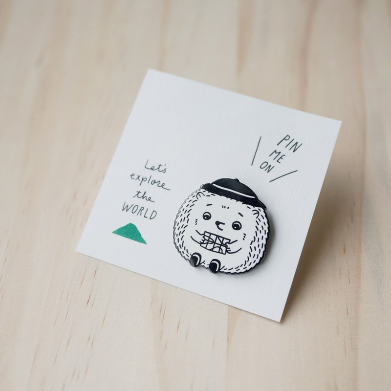 Hedgehog Pin - Let's explore the world!