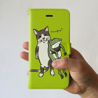 iPhone cover · notebook type Nakayoshi lime green