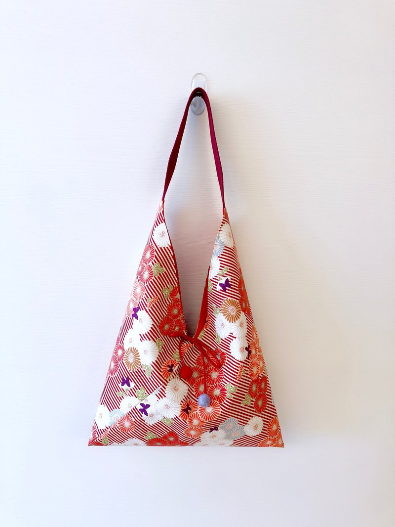 Triangle Shoulder Bag / Medium Size / Orange Wind Map