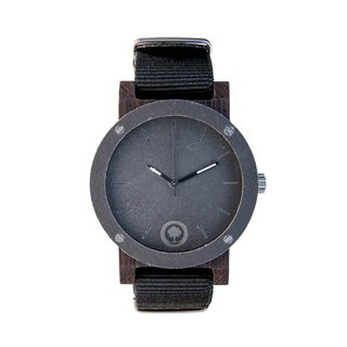 Plantwear – RAW SERIES – DOUBLE STONE - EBONY WOOD TIMBER WRIST WATCH