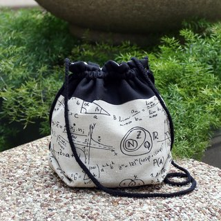3-in-1 Shoulder/Slant Back/Hand Strap Bucket Bag - Mathematical Equation (A27)