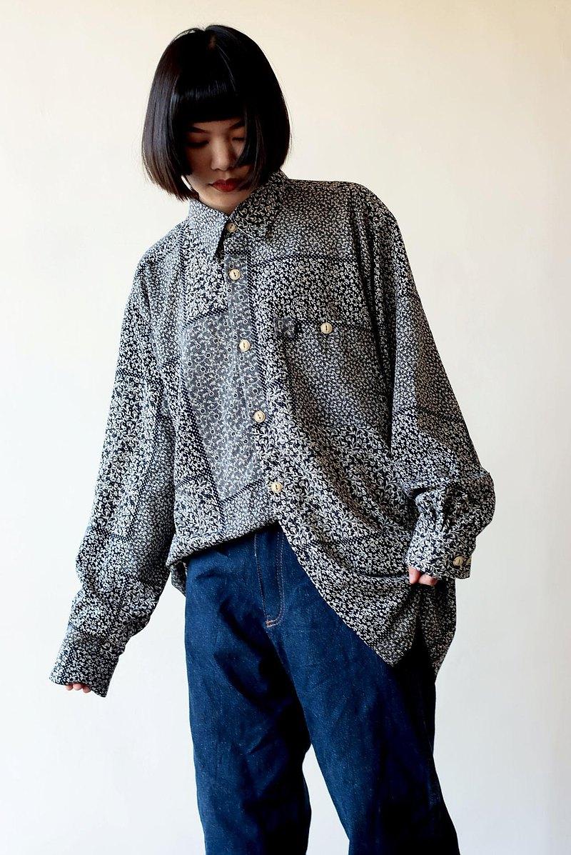 no.3 法國小花品牌藍襯衫