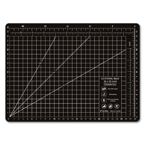 Lightweight odorless cutting pad (A4) black translucent ink / art professional use