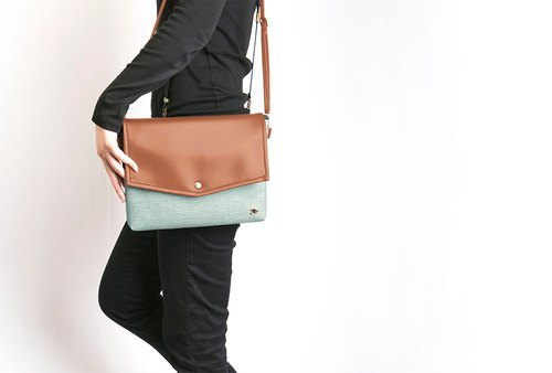 CLM Envelope Bag Set_Mint Brown Green