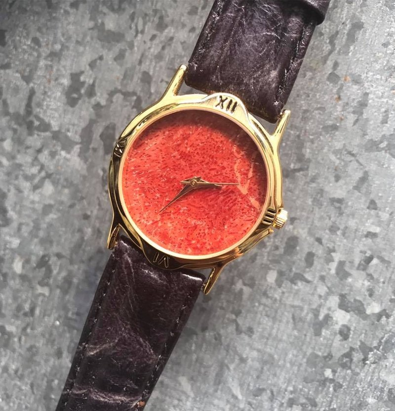 【Lost And Find】Natural Red coral watch