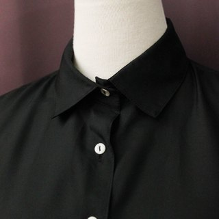 Vintage European Simple Thick Black Plain Loose Long Sleeve Vintage Shirt Vintage Blouse