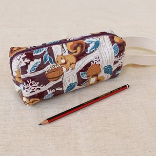 Squirrel portable pencil bag / storage bag universal bag pencil case