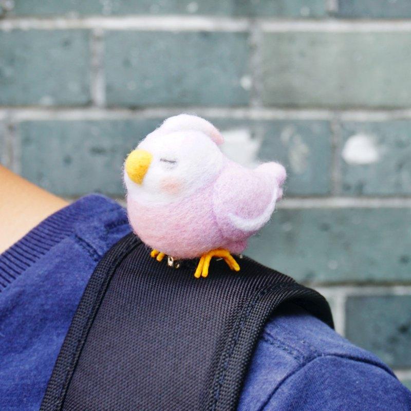 一隻有想法的鳥 - 羊毛氈挂飾擺飾背包掛飾鑰匙圈聖誕禮物