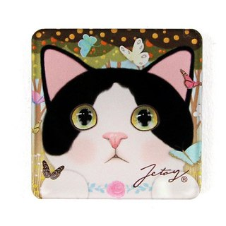 JETOY, sweet cat Founder refrigerator magnet (4 * 4cm) _Jewelry J1707208