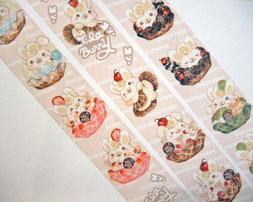 Tilabunny ice cream rabbit paper tape