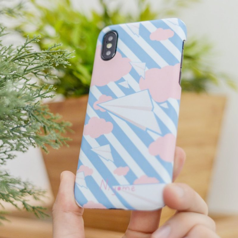 The Paper plane case สำหรับ iphone5s, 6s, 6s plus, 7, 7+, 8, 8+, iphone x