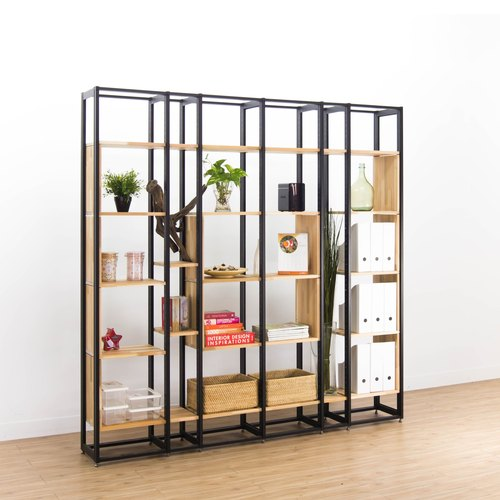 Creesor - Shido 30 industrial wind bookcase display stand