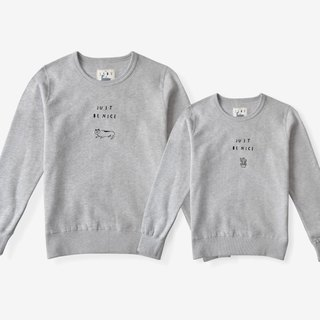 skov small Fortunately, a sense [Confidence] round neck sweater lovers cotton casual literary independent brand design