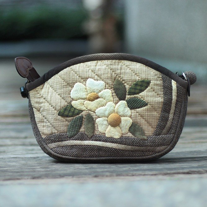 ❖ handmade material package - Japanese Patchwork pattern patch handle bag ❖