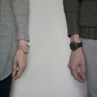 THIN 5010 Minimalist Slim Milan Watch - Black