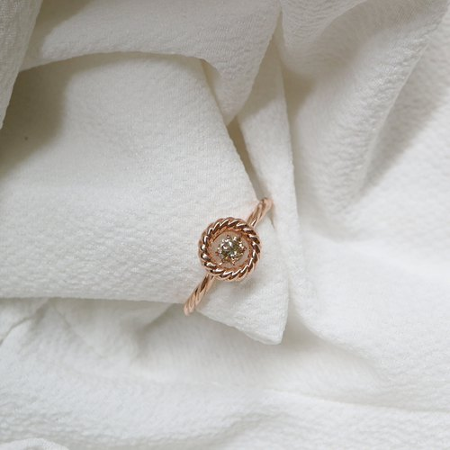 Champagne Diamond Shining Ring