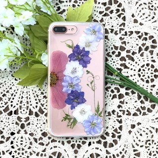iPhone 7 Dry Pressed Flowers Case Purple Flower case 025