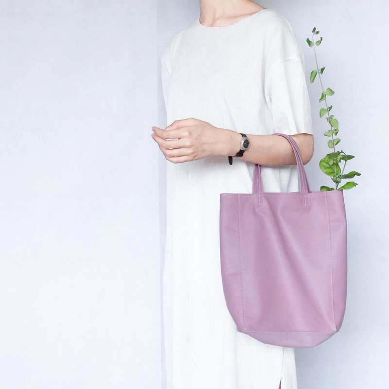 Elegant soft leather bag (handheld) -芋藕