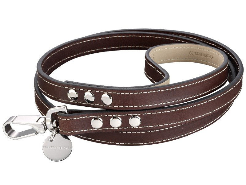 H & S Hennessy & Sons - ROYAL Classic Leather leash (chocolate brown)