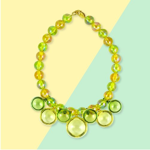 POP statement necklace (lemon)