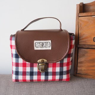 (small camera bag) class single small single eye camera thick cotton camera bag (blue red and white stripes) B32