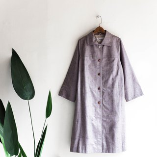 Heshui Mountain - Chiba Grey Purple Fragrance Youth Handbook Antique Thin Trench Coat French_coat dustcoat jacket coat oversize vintage