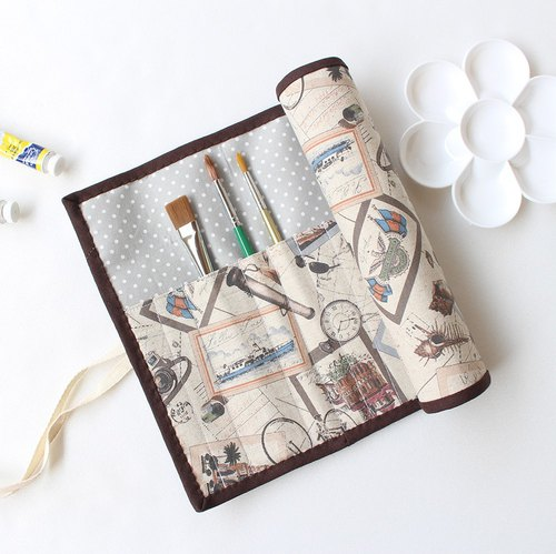 World Travel Painting Bag / Pencil Case Tool Storage Bag Rolling Boots ケース Watercolor Cookware